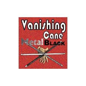 Vanishing Cane Black Metal Silk Magic Trick Stage Adult