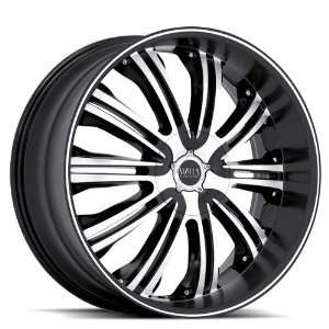 Status S811 Symbol 24x9.5 Ford Dodge Wheels Rims Black Machine Face