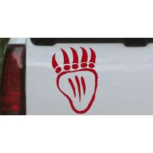 Red 28in X 19.6in    Tribal Indian Bear Claw Western Car Window Wall
