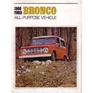 1966 FORD BRONCO Sales Brochure Literature Book Piece