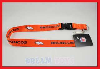 NFL Denver Broncos Lanyard Key Chain / Football
