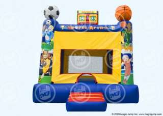 Inflatable Sports Bounce House Moonwalk Bouncer 15x15