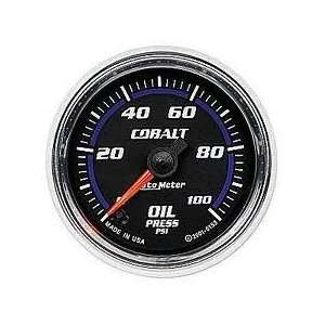 Auto Meter 7953 Cobalt 2 5/8 0 100 PSI Full Sweep Electric Oil