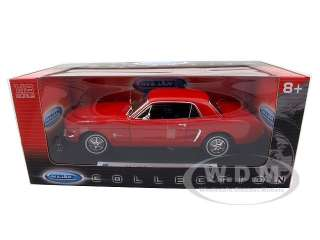 car model of 1964 1/2 Ford Mustang Hard Top die cast car byWelly