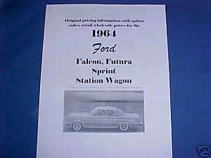 1964 Ford FALCON,Futura,Sprint,station wagon 64 options