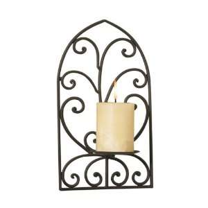 Bella Home Cathedral Scroll Wrought Iron Wall Sconce.