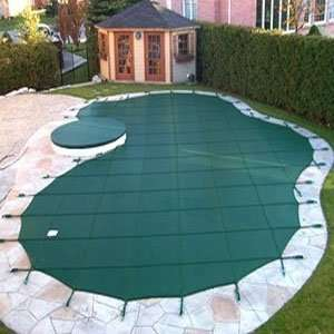 Mesh Safety Pool Cover  Pool Size 16 x 32 Green