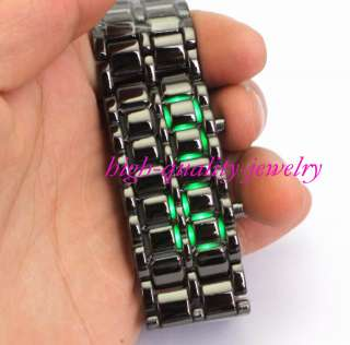 Lava Iron Samurai Metal LED Faceless Watch Mans Womens Lady Bracelet