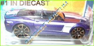 2011 11 2012 12 CHEVY CAMARO CONVERTIBLE PURPLE HOT WHEELS HW