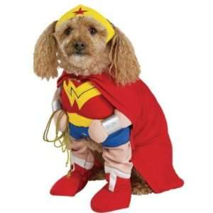 Dog Fancy Dress Costume Wonder Woman Deluxe   Size Small