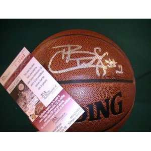 CARLOS BOOZER SIGNED AUTOGRAPHED BASKETBALL CHICAGO BULLS