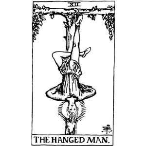 Playing Cards Tarot Card The Hanged Man Pack of 20 Small Gift Tags 6