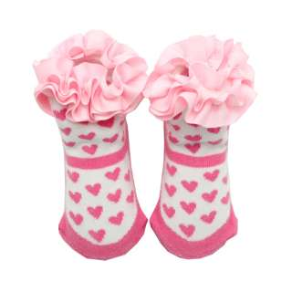 US New NewBorn Infant Baby Girls Toddler Mary Jane Heart Shoes Socks