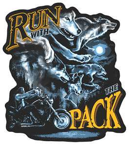 PACK WOLVES PATCH P3880 biker jacket wolf iron on sew
