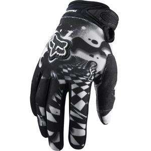 Fox Racing Dirtpaw Checked Out Gloves   8/White/Black Automotive