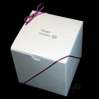 Cupcake Cookie Candy Wedding Favor Treat Gift Box 4x4   50 bxs