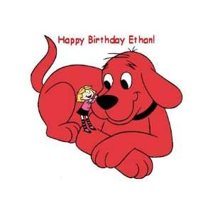 Clifford Red Dog Personalized Edible Cake Image Birthday