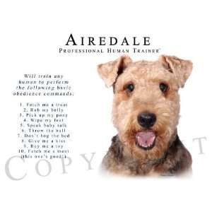 Airedale Human Trainer Mouse Pad Dog Mousepad Kitchen