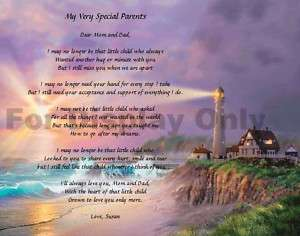 Personalized Poem For Parents Mom and Dad Gift Idea