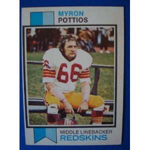 1973 Topps Football Trading Card Washington Redskins Myron