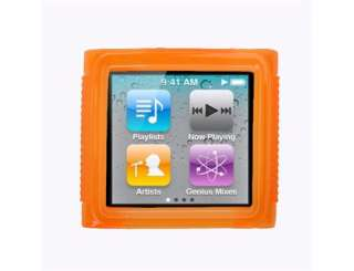 Orange Soft TPU Gel Case Cover for iPod Nano 6 6G 6th