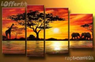 MODERN ABSTRACT ART OIL PAINTING ON CANVAS WALL DECOAfrican Sunset