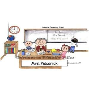 Elementary School Teacher Personalized Cartoon Mouse Pad