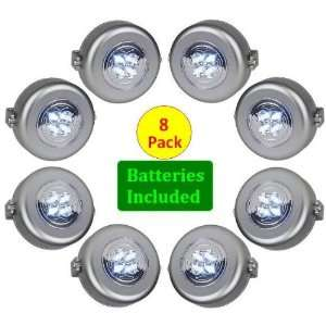 Sound Activated Powerful 4 LED Spotlights   8 Pack   Lights