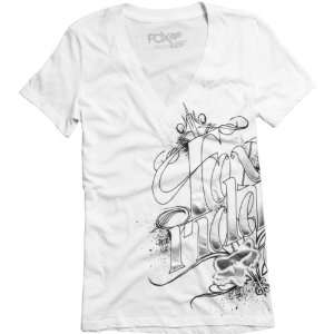 Fox Racing Mystic Vneck White L Automotive