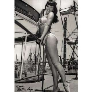 Professionally Framed Bettie Page Amusement Park Archival