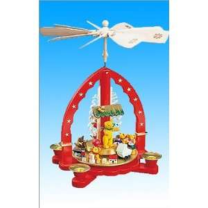 Richard Glaesser pyramid   arch design in red with assorted Teddy