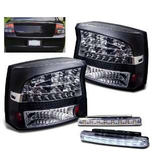 Eautolights 09 10 Dodge Charger LED Tail Lights Black Lamps Pairs