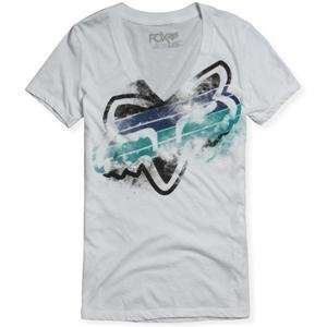 Fox Racing Quaser Vneck [White] L White Large Automotive