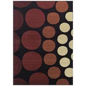 Tremont Collection Drops Black Area Rug