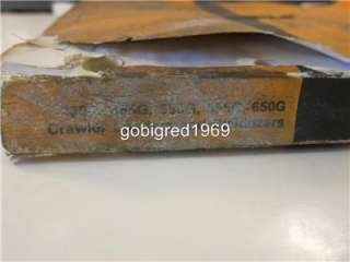 John Deere Crawler Loader 450G 455G 550G 555G 650G Parts Catalog