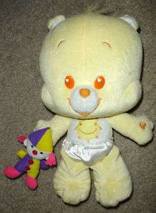CUTE 11 tall Funshine Cub Care Bear Baby Plush Doll w/ mini Jester