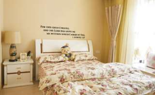 SAMUEL 127 BABY ROOM  NURSERY WALL QUOTE DECAL STICKER