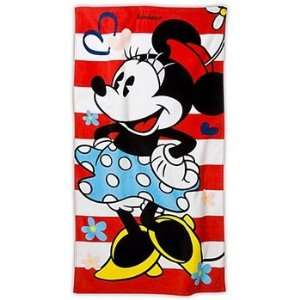 Disney Minnie Mouse Blue Dress Beach Towel Toys & Games