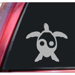 Yin Yang Honu Hawaiian Sea Turtle Grey Vinyl Decal Sticker
