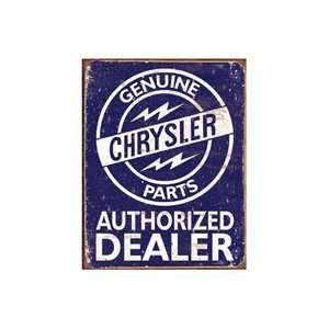 Chrysler Parts Authorized Dealer Vintage Style Metal Sign