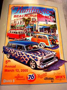 Hot Rod Surfing, Huntington Beach Meet Poster 05