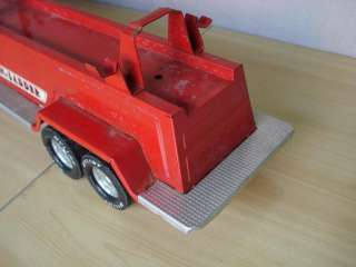 "ANTIQUE LARGE 31"" CHILD TIN TOY FIRE TRUCK w/LADDER"