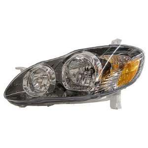 2005 08 TOYOTA COROLLA HEADLIGHT S/XRS, DRIVER SIDE