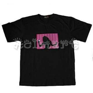 Sound Activated Disco dancing LED Rave T Shirt 00154 XL
