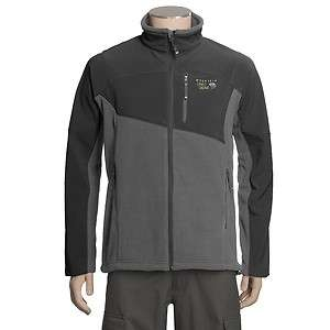 Mountain Hardwear Mens Nakaya Fleece Jacket coat Grey/Black NEW $150