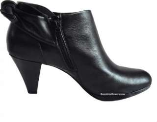 AK ANNE KLEIN $110 YARDENA WOMENS BLACK LEATHER BOOTS