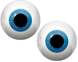 MONSTER ROUND BLUE EYE BALLS #5 VINYL DECAL STICKERS*