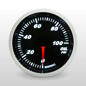 Oil Pressure Gauge, Full Sweep Electric, Tinted