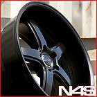 20 INFINITI G35 COUPE AVANT GARDE M350C MATTE BLACK STAGGERED RIMS