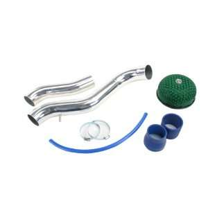 HONDA CIVIC/CRX 88 91 LX/SI POLISHED TWIN PIPE COLD AIR INTAKE WITH